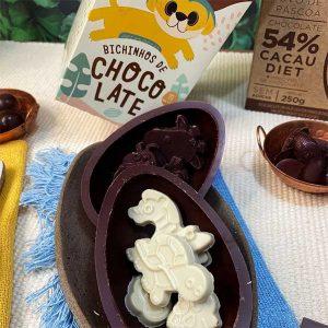 Java -Ovo com bichinhos de chocolate e quebra-cabeça