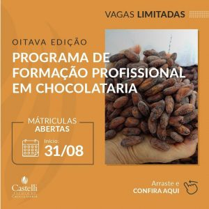 Programa de formação em Chocolataria - Escola Castelli